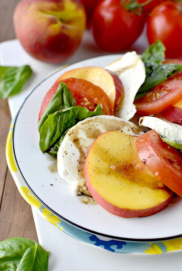 Peach Caprese Salad | iowagirleats.com