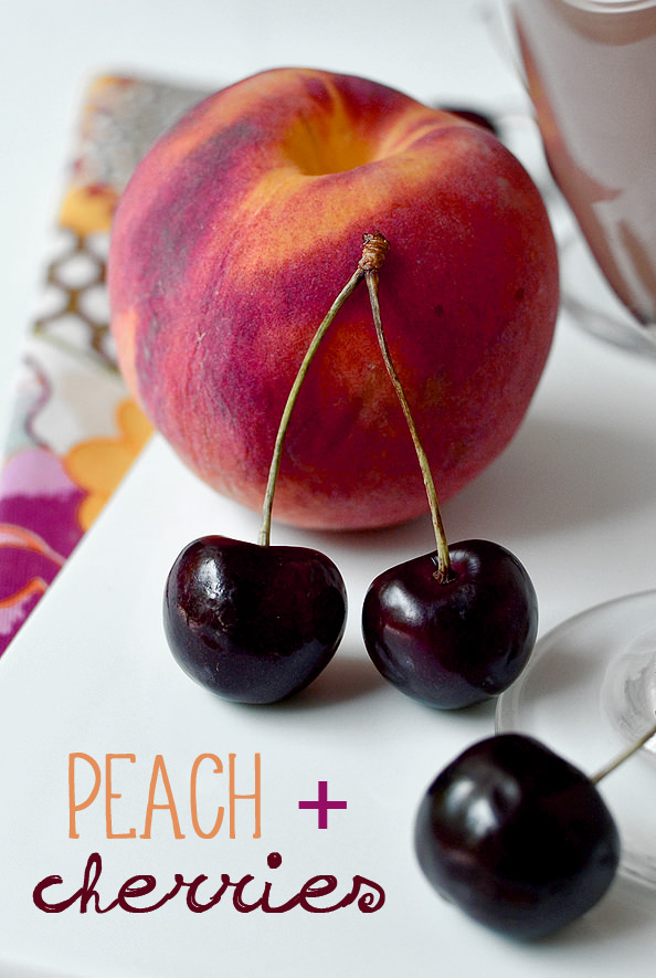 Cherry-Peach Smoothies | iowagirleats.com