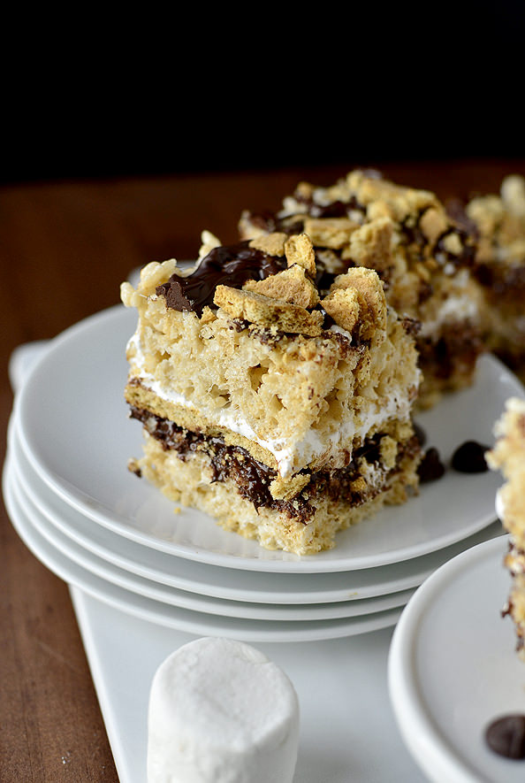 Smore Rice Krispie Treats | iowagirleats.com