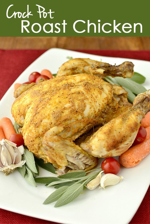Crock Pot Roast Chicken is a great, low-far way to make chicken for ...
