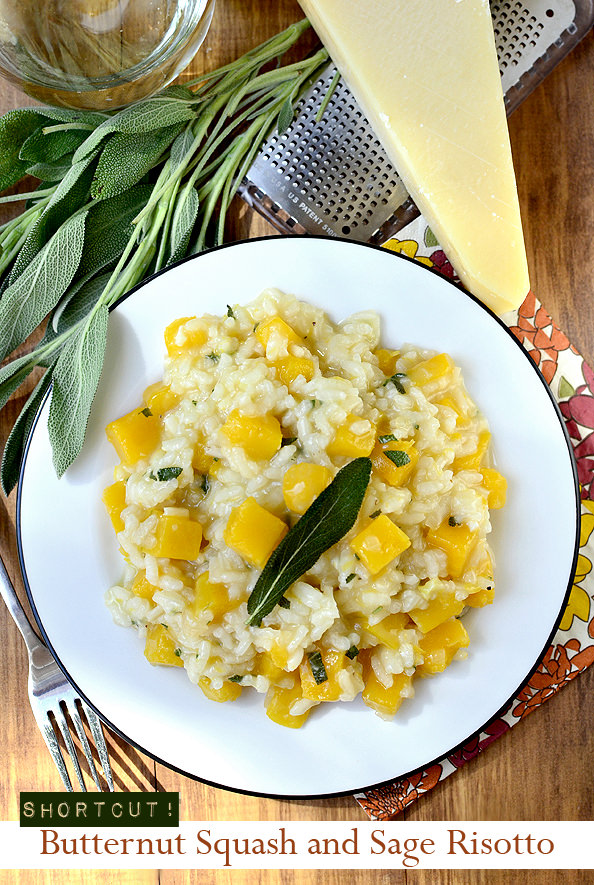 Shortcut Butternut Squash and Sage Risotto - Iowa Girl Eats
