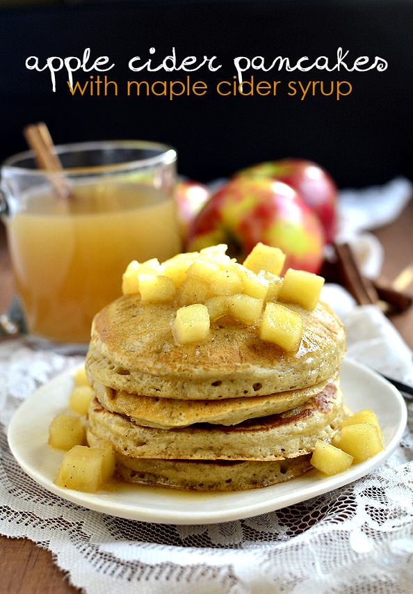 Buttermilk Pancakes With Maple Syrup Apples Recipe — Dishmaps