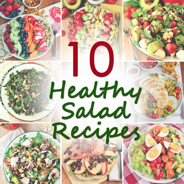 10 Healthy Salad Recipes | iowagirleats.com