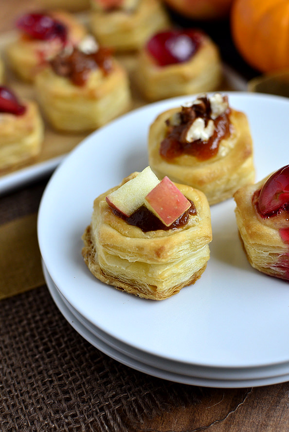 Baked Brie Bites - 3 Ways! Perfect for the holidays.   iowagirleats.com