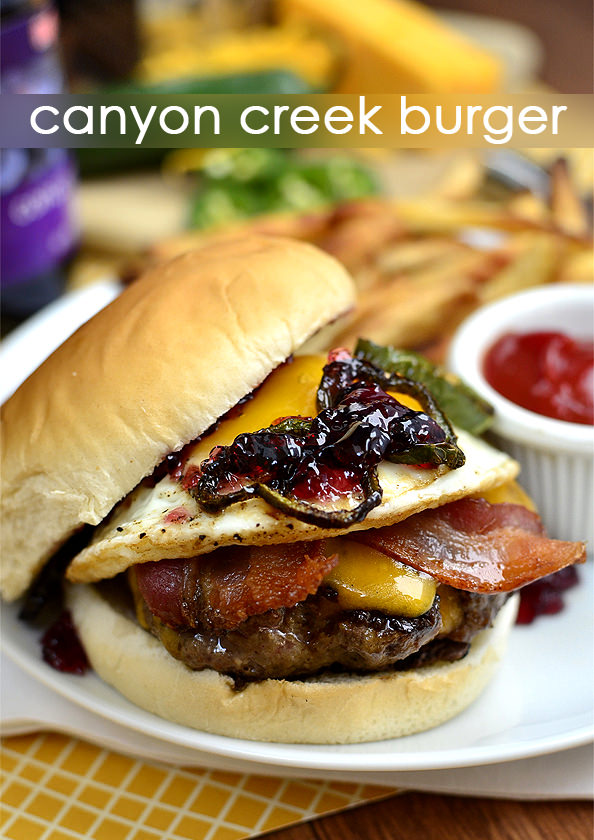 Canyon Creek Burger. A copycat recipe from Ted's Montana Grill! | iowagirleats.com