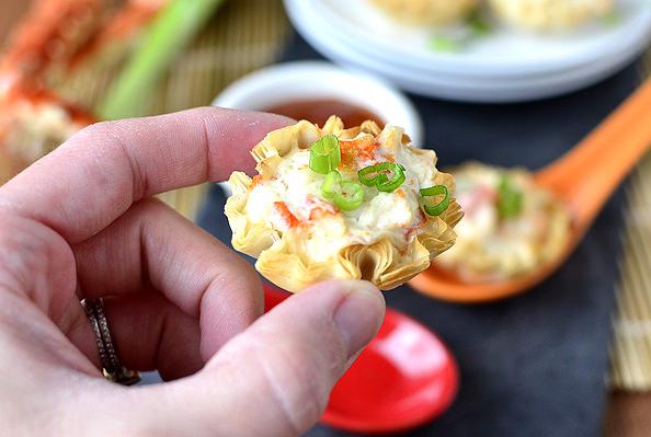 Crab Rangoon Bites Appetizers | iowagirleats.com