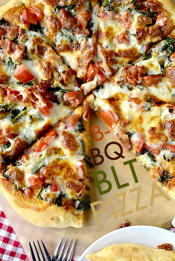 BBQ BLT Pizza | iowagirleats.com
