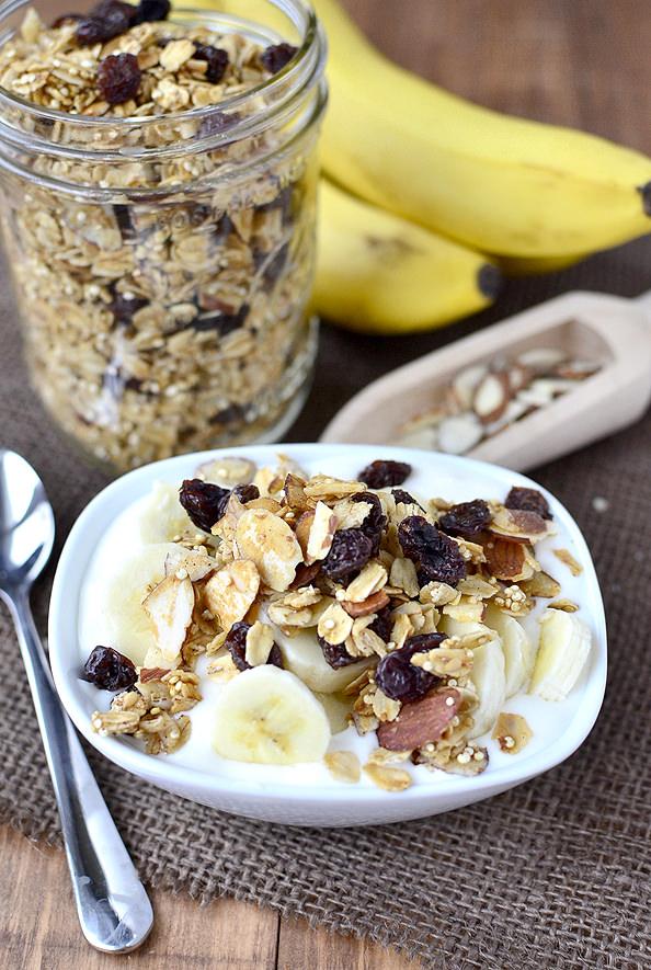 Crunchy Quinoa Granola #breakfast #recipe #healthy #snack | iowagirleats.com