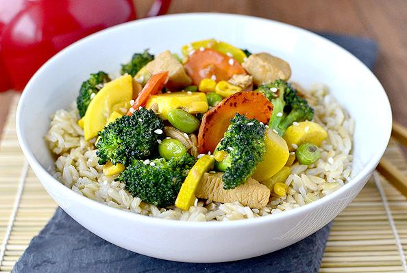 Chicken and Vegetable Stir Fry   iowagirleats.com