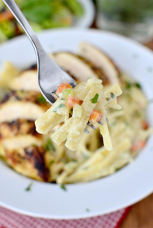 Creamy Chicken Pasta   iowagirleats.com