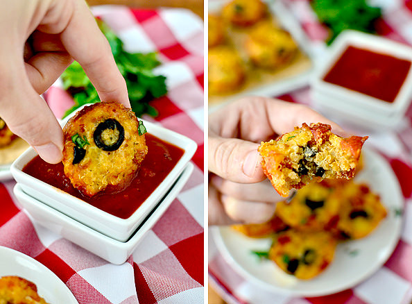 Mini Quinoa Pizza Cups | iowagirleats.com