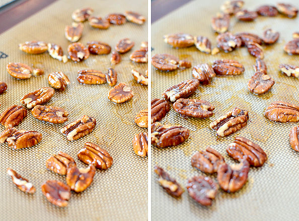 Black & Blue Spring Salad with Honey-Roasted Pecans and Berry-Balsamic Vinaigrette   iowagirleats.com