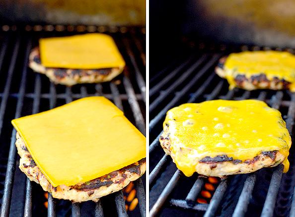 Chipotle Cheddar Turkey Burgers with Avocado Crema | iowagirleats.com