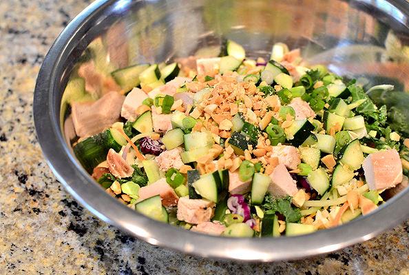 Crunch Lover's Chopped Chicken Salad   iowagirleats.com