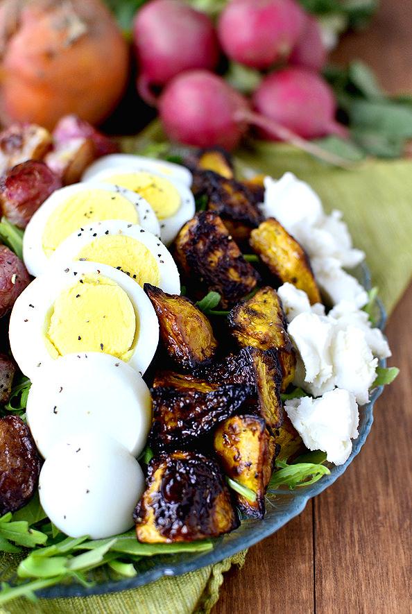 Roasted Spring Vegetable Cobb Salad | iowagirleats.com