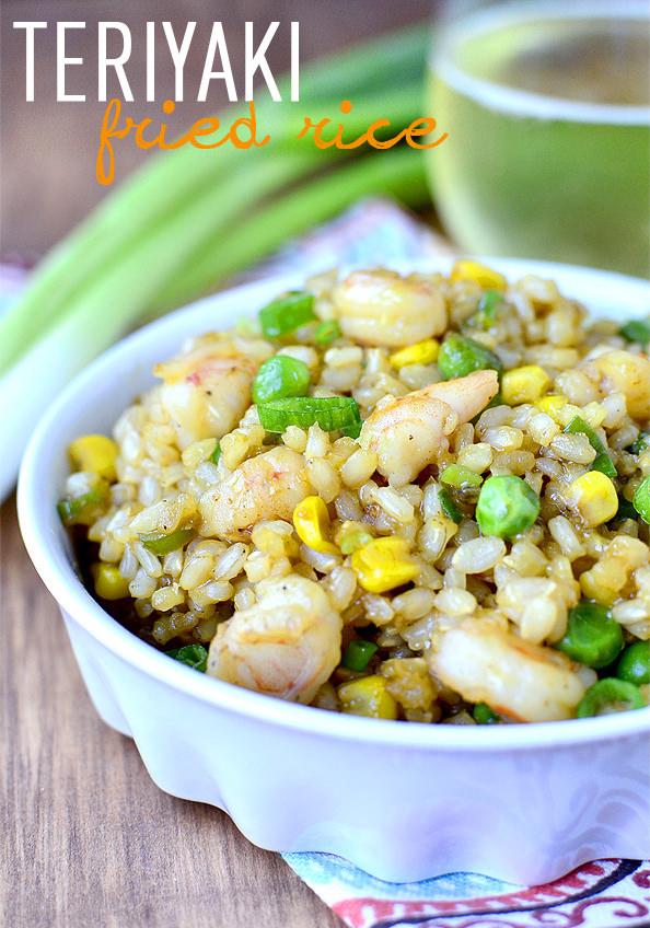 Teriyaki Fried Rice with Homemade Teriyaki Sauce | iowagirleats.com