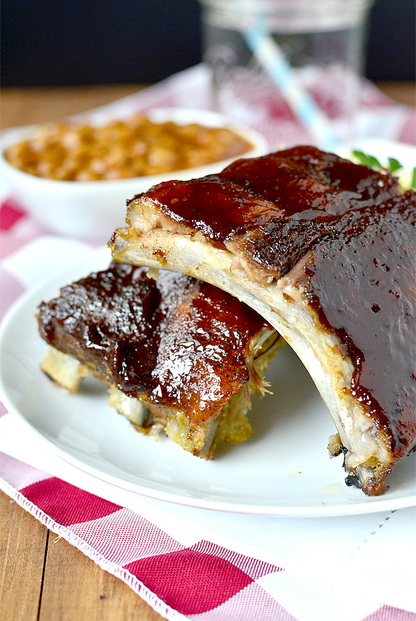 Easy Baked Ribs #glutenfree | iowagirleats.com