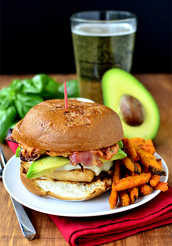 Chicken, Bacon and Avocado Melts with Sun Dried Tomato-Basil Mayo ...