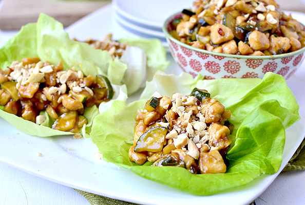 Kung Pao Chicken Lettuce Wraps are absolutely mouthwatering. Probably ...