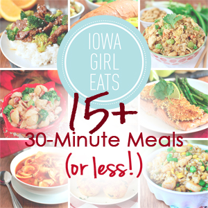 16 Easy 30 Minute Meals