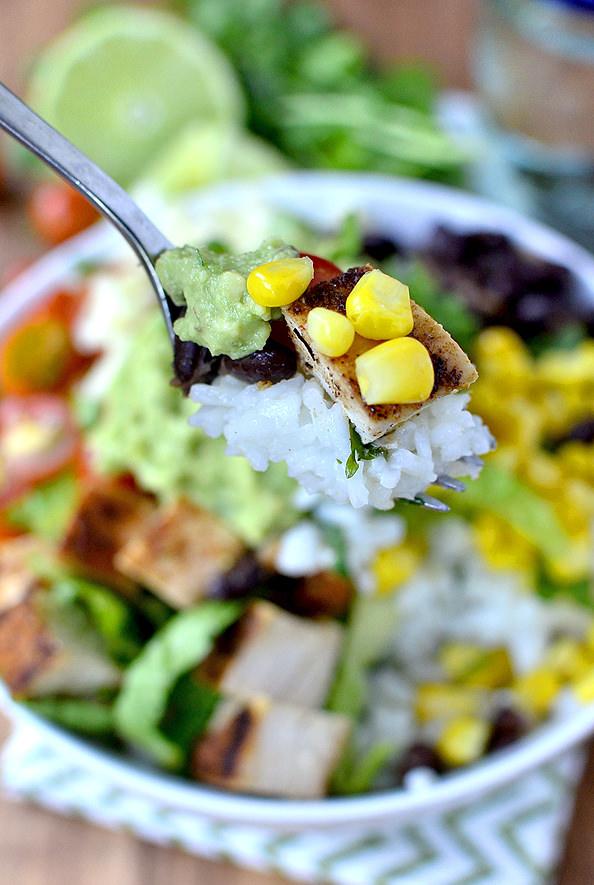 Easy Homemade Burrito Bowls | iowagirleats.com