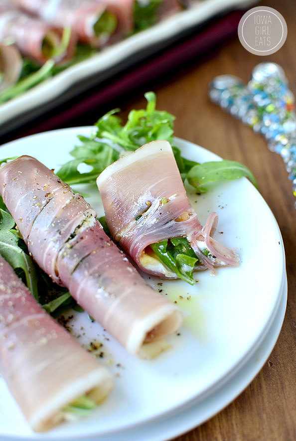 Fig & Prosciutto Roll Ups #glutenfree | iowagirleats.com