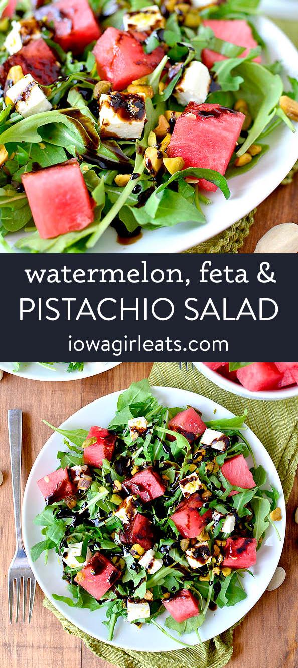 Photo collage of watermelon salad