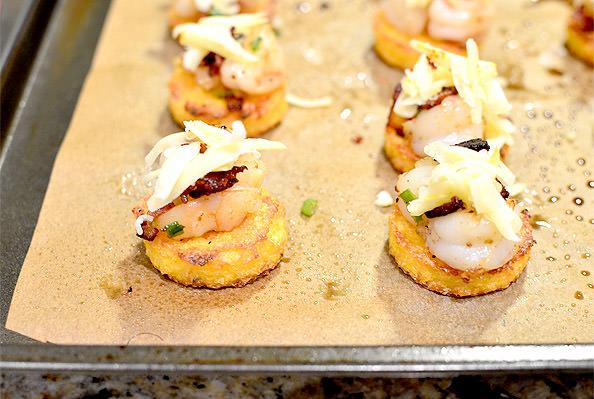 Smoked Cheddar Shrimp & Grits Bites   iowagirleats.com