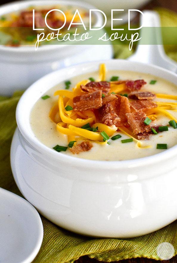 Loaded Potato Soup - Gluten-Free! | iowagirleats.com