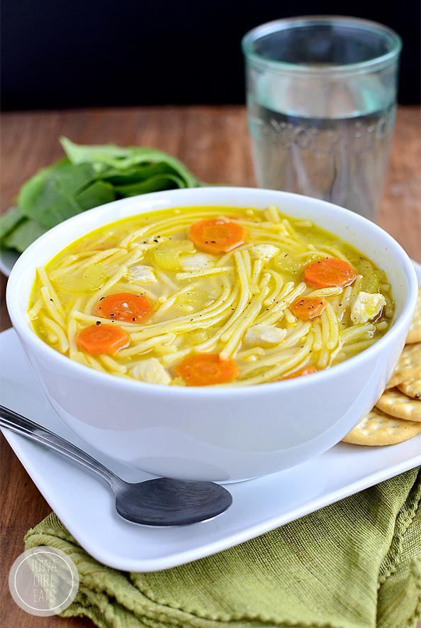 homemade chicken noodle soup (gluten-free) - iowa girl eats
