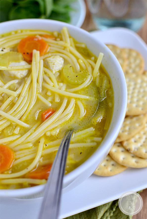 homemade chicken noodle soup glutenfree  iowa girl eats