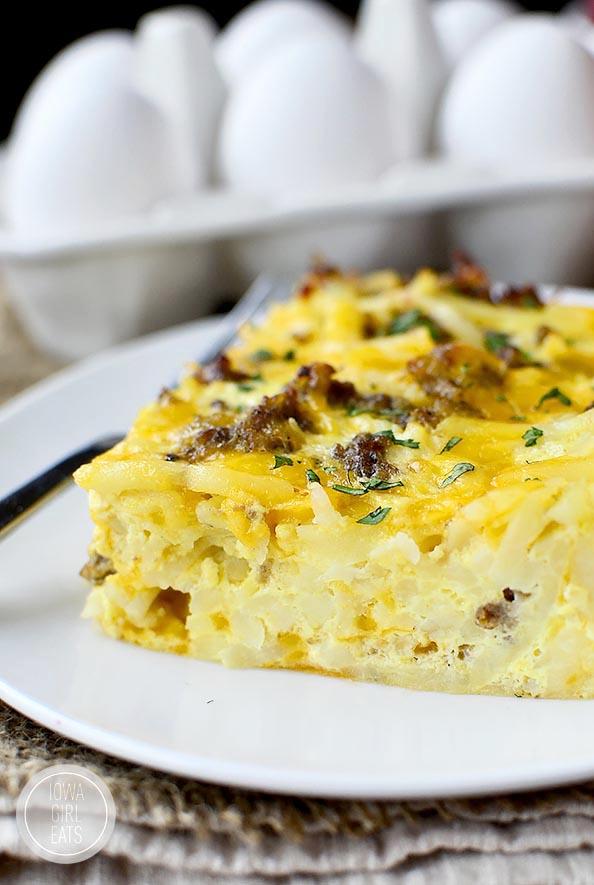 Gluten Free Breakfast Casserole |  iowagirleats.com