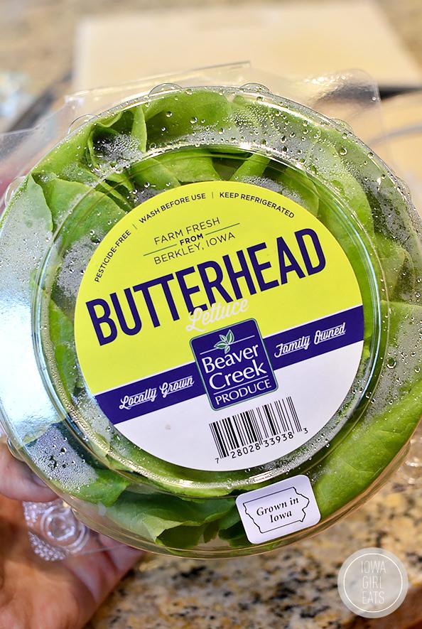 Honey, Pomegranate, Pecan Chicken Salad Lettuce Wraps #glutenfree   iowagirleats.com