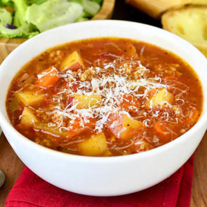 Featured image of Italian Sausage and Vegetable Soup