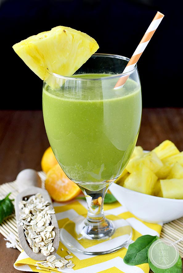 Photo of glass of healthy smoothie