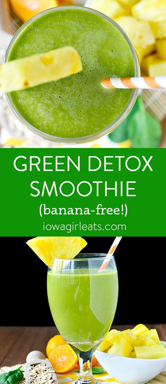 Photo collage of Green Detox Smoothie