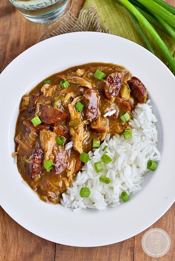 Smoked Sausage and Chicken Gumbo Archives - Iowa Girl Eats