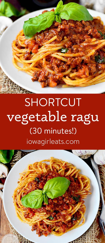 Photo collage of Shortcut Vegetable Ragu