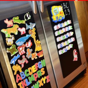 DIY Magnetic Board for a Stainless Steel Fridge