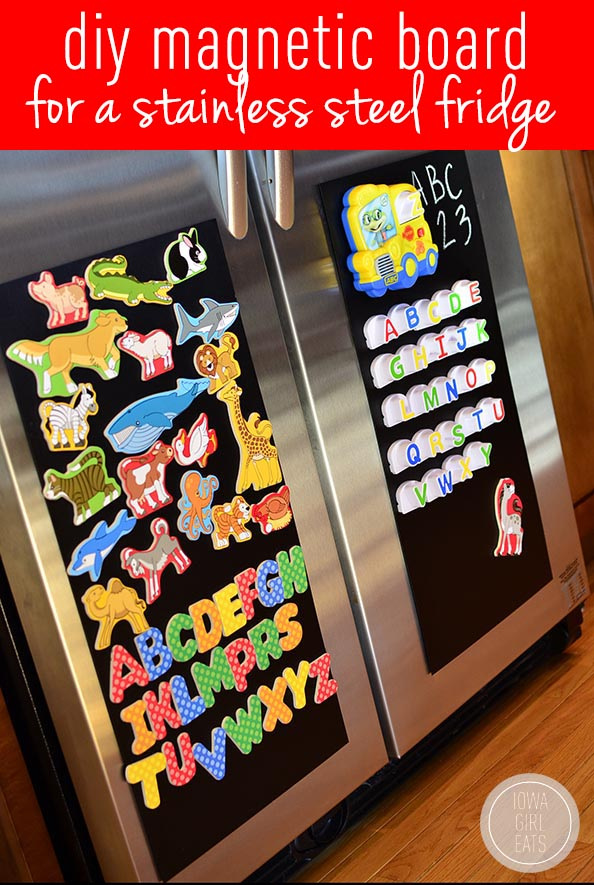 Diy Magnetic Board For A Stainless Steel Fridge Iowa Girl Eats