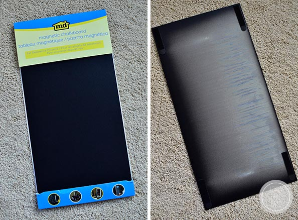 diy magnetic board for a stainless steel fridge iowa girl eats. Black Bedroom Furniture Sets. Home Design Ideas