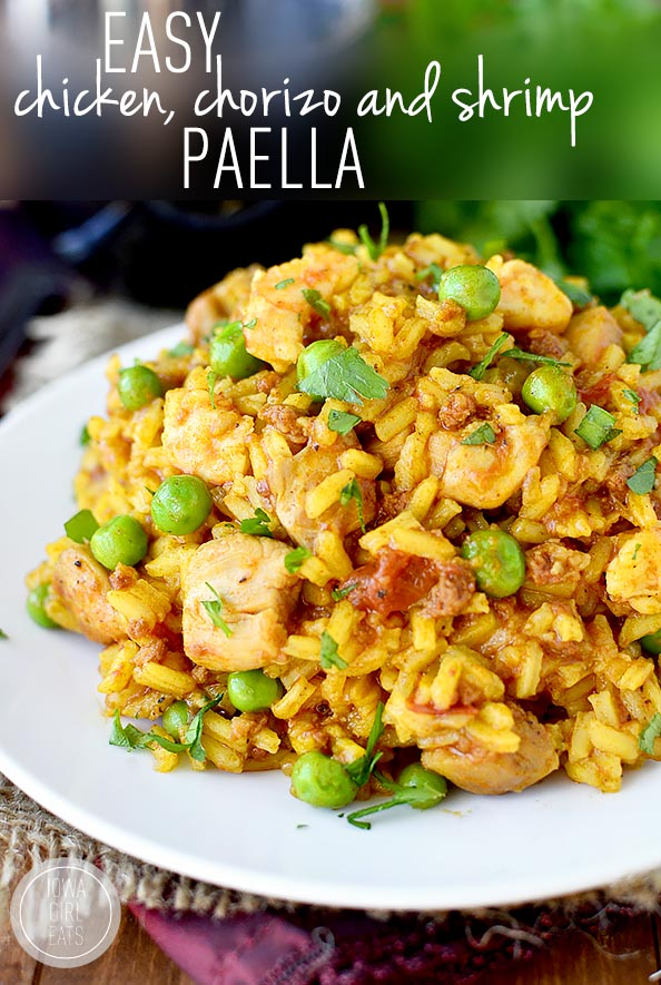 chicken shrimp and scallop easy paella grilled paella recipe chow if ...