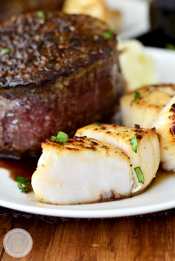 Surf and Turf for Two #glutenfree | iowagirleats.com