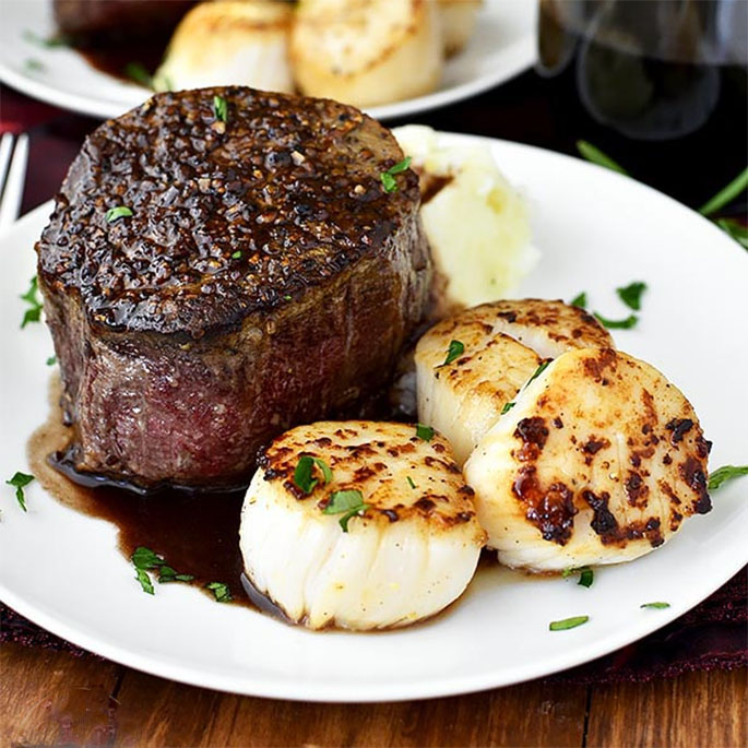 Turf And Surf >> Surf And Turf For Two Iowa Girl Eats