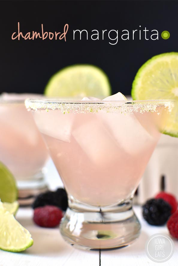 Chambord Margarita is a classic fresh margarita with a fruity yet not too sweet twist! #cocktail   iowagirleats.com