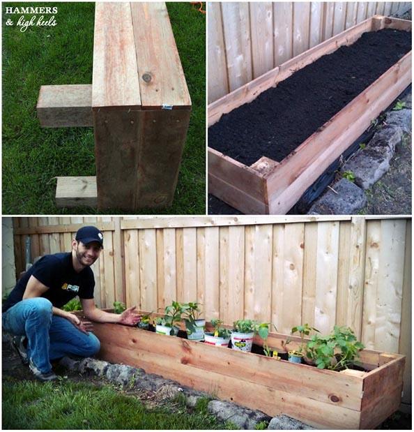 Hammers and High Heels planter box garden