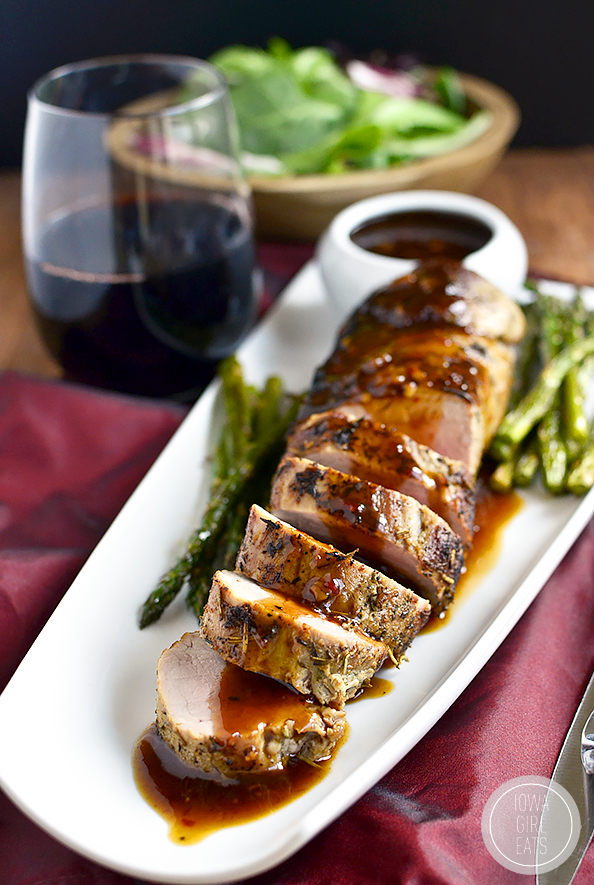 Pork Loin With Figs And Port Sauce Recipe — Dishmaps