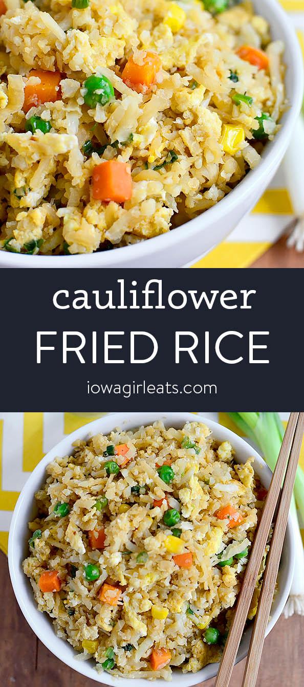 Photo collage of Cauliflower Fried Rice