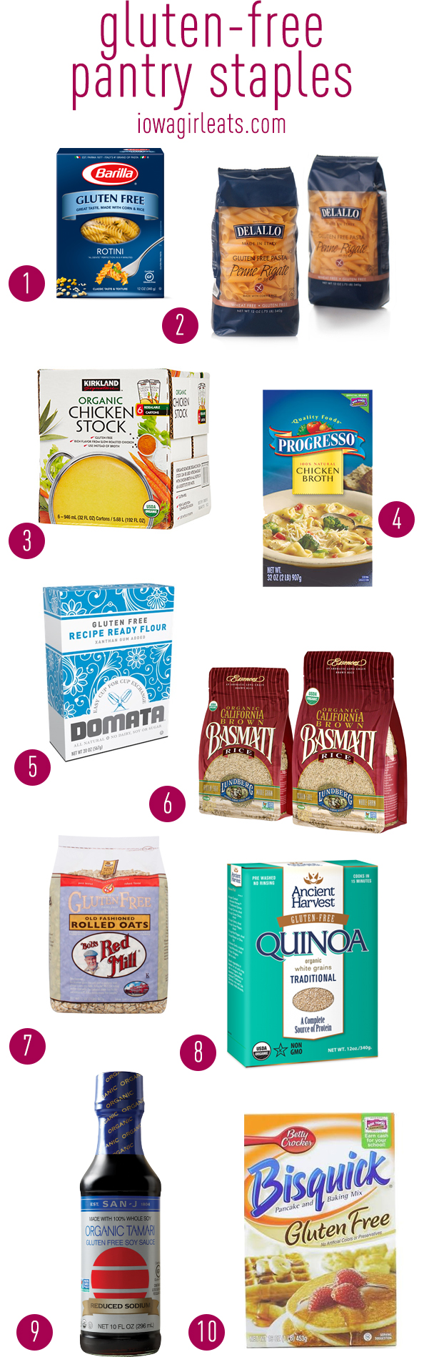 Favorite Gluten Free Pantry Staples   iowagirleats.com