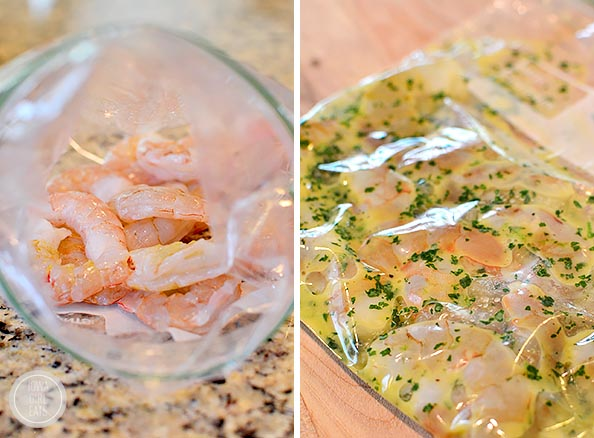 Shrimp and Avocado Taco Salad is a delicious gluten-free salad recipe with a shrimp marinade that doubles as the salad dressing. Fresh, easy, and filling!   iowagirleats.com